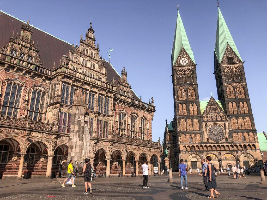 Bremen Bezienswaardigheden Marktplatz Rathaus Dom