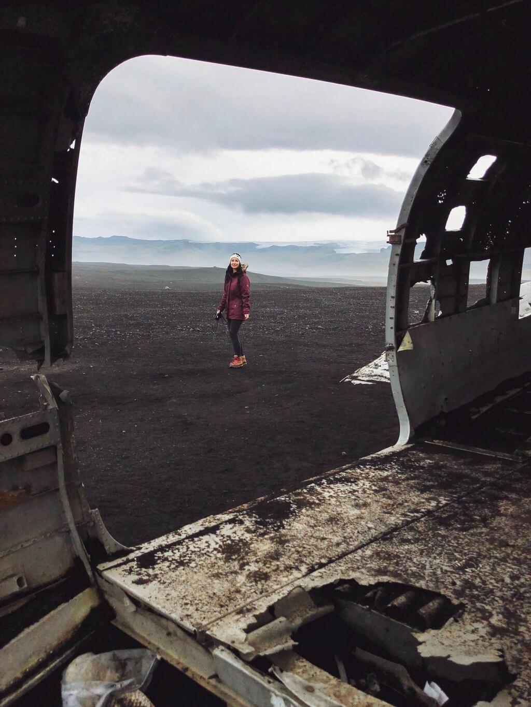 Vliegtuigen wrak IJsland ringweg