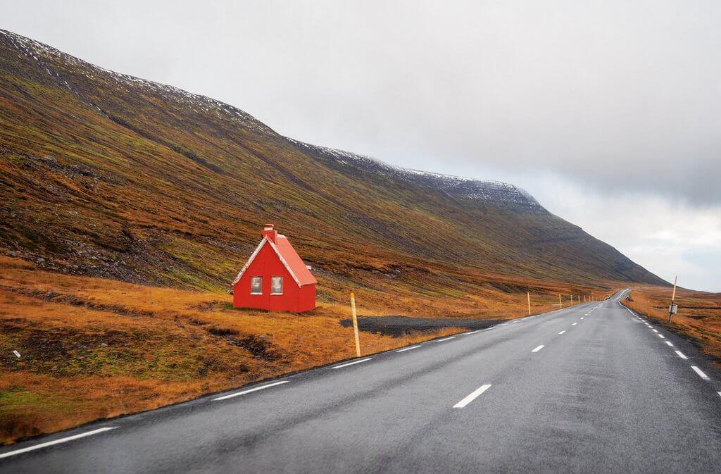 IJsland ringweg Ostfjorde