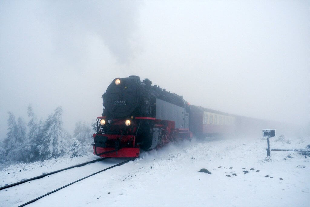 Brockenbahn in de winter