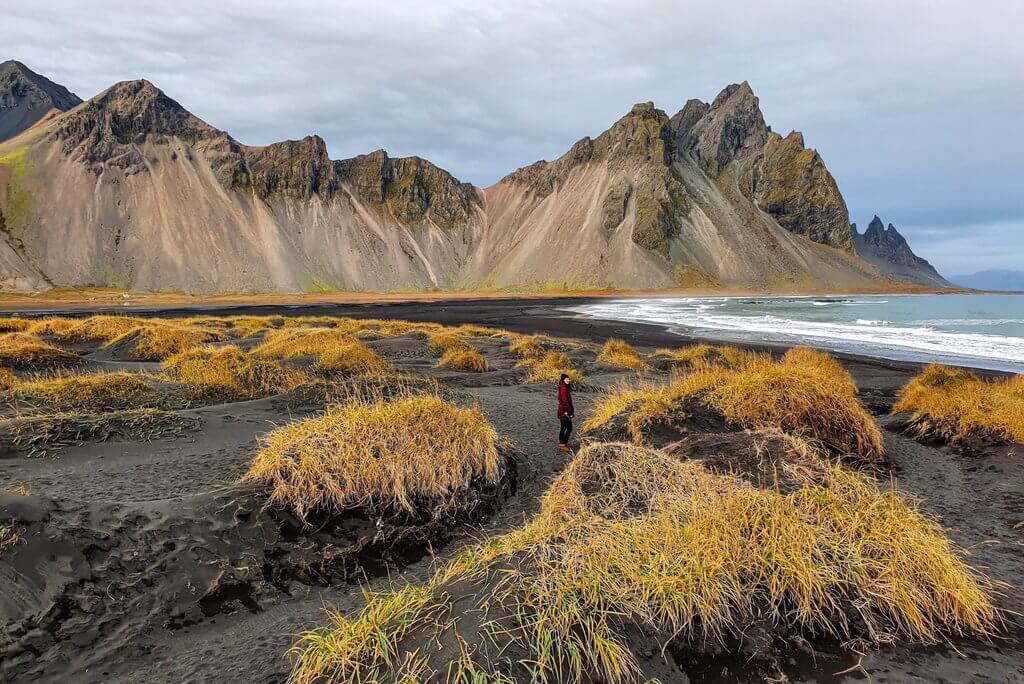 IJsland Stokksnes Ring Road buiten het seizoen