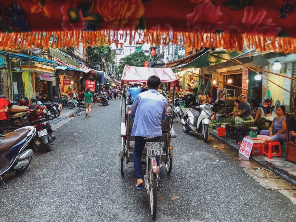 Oude riksja-tour door Hanoi