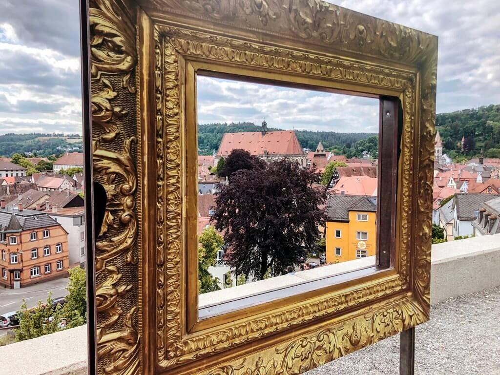 Biertuin Zeiselberg Uitzicht op Schwäbisch Gmünd