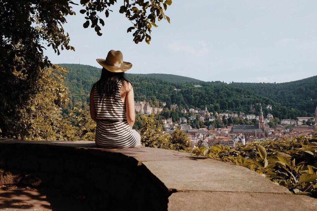 Heidelberg slangenpad gezichtspunt