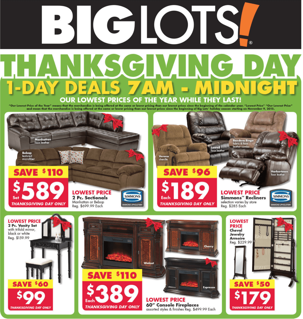 Furniture Stores Black Friday Sales: Big Lots Black Friday 2016 Sale & Furniture Deals