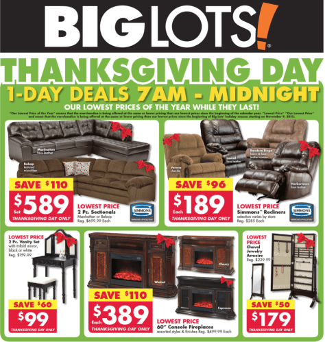 Big Lots Black Friday 2015 Ad - Page 1