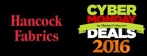Hancock Fabrics Cyber Monday 2016