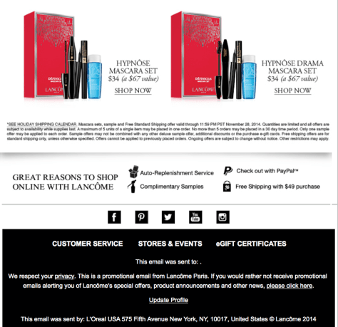 Lancome black friday ad scan - page 2