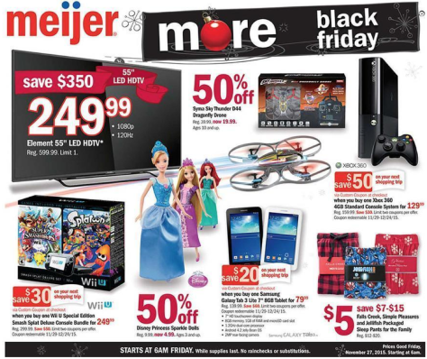 Meijer Black Friday 2015 Ad - Page 1