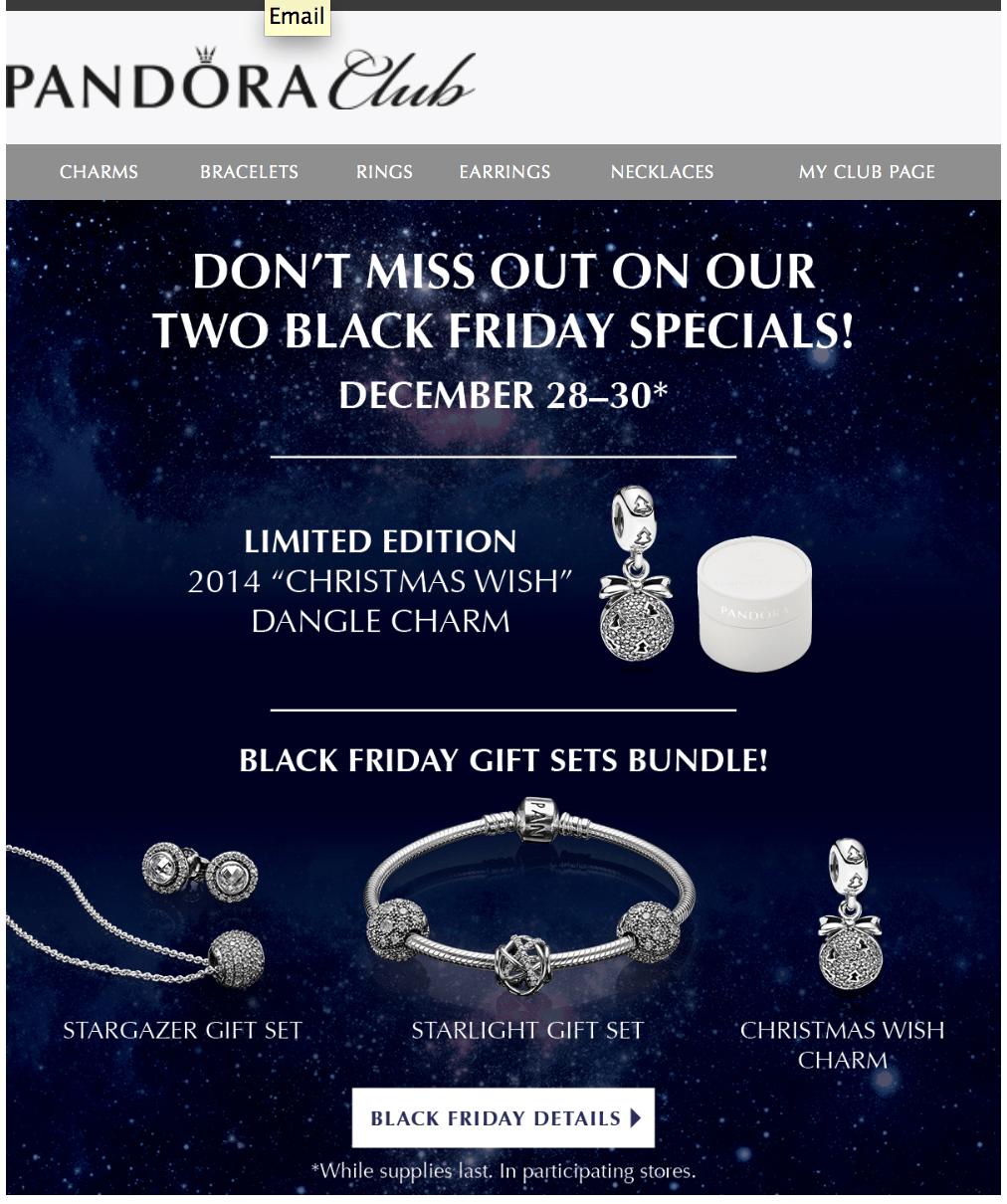 Pandora Black Friday 2017 Sale & Holiday Charms | Cyber Week 2017 ...