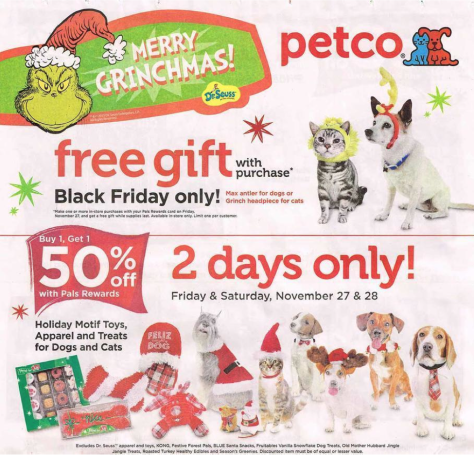 Petco Black Friday 2015 Ad - Page 1