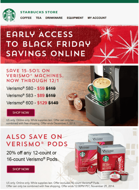 Starbucks black friday ad scan - page 1