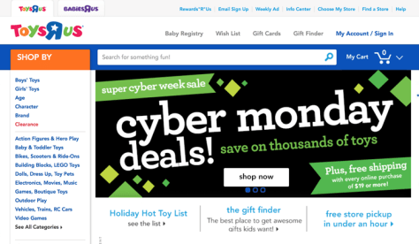 Toys R Us Cyber Monday 2015 Ad - Page 1