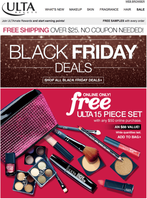 Ulta black friday ad scan - page 1