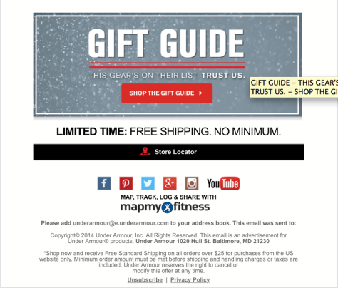 Under Armour black friday ad scan - page 2