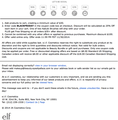 elf cosmetics black friday ad scan - page 2