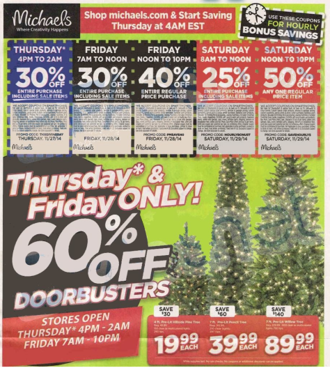michaels black friday ad scan - page 1