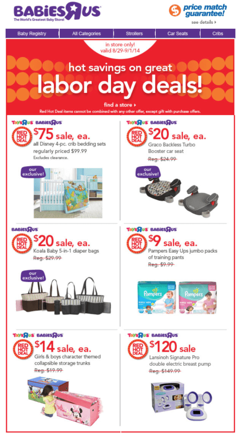 Babies r us Labor Day Sale - Page 1