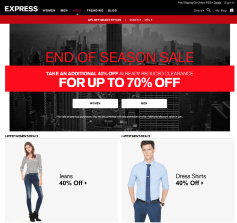 Express Labor Day Sale 2015 - Page 1