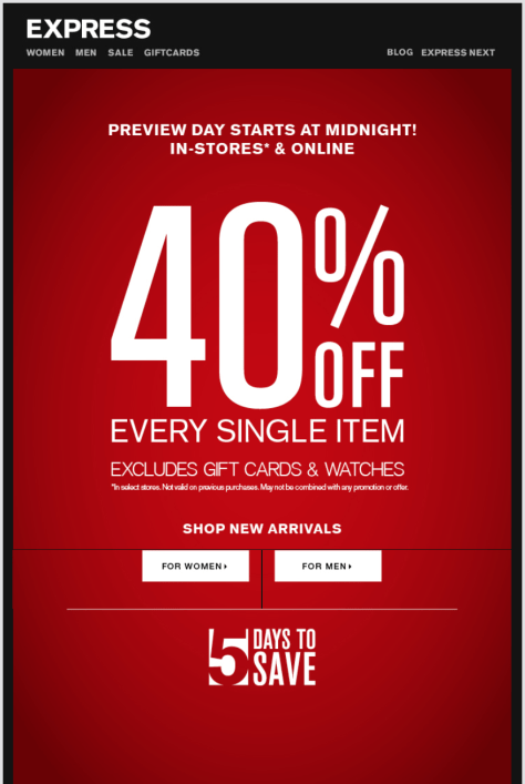 Express Labor Day Sale - Page 1