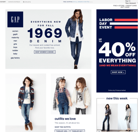 Gap Labor Day Sale 2015 - Page 1