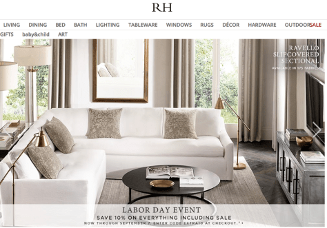 Restoration Hardware Labor Day Sale 2015 - Page 1