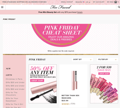 Too Faced Black Friday 2015 Ad - Page 1