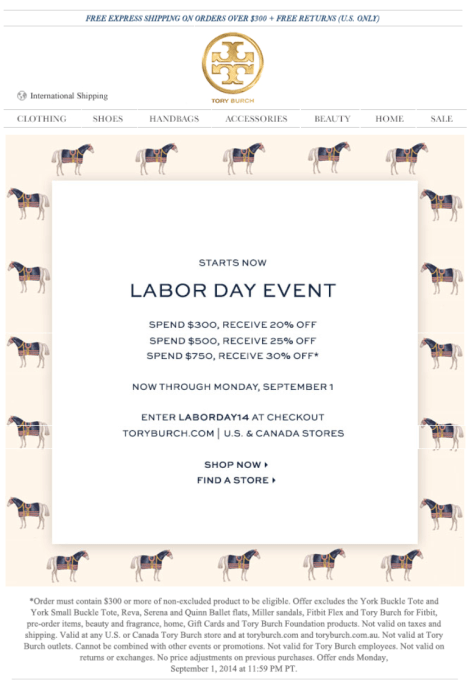 Tory Burch Labor Day Sale - Page 1