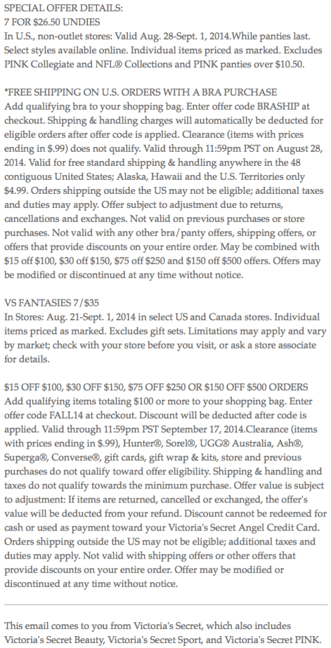 Victorias Secret Labor Day Sale - Page 4