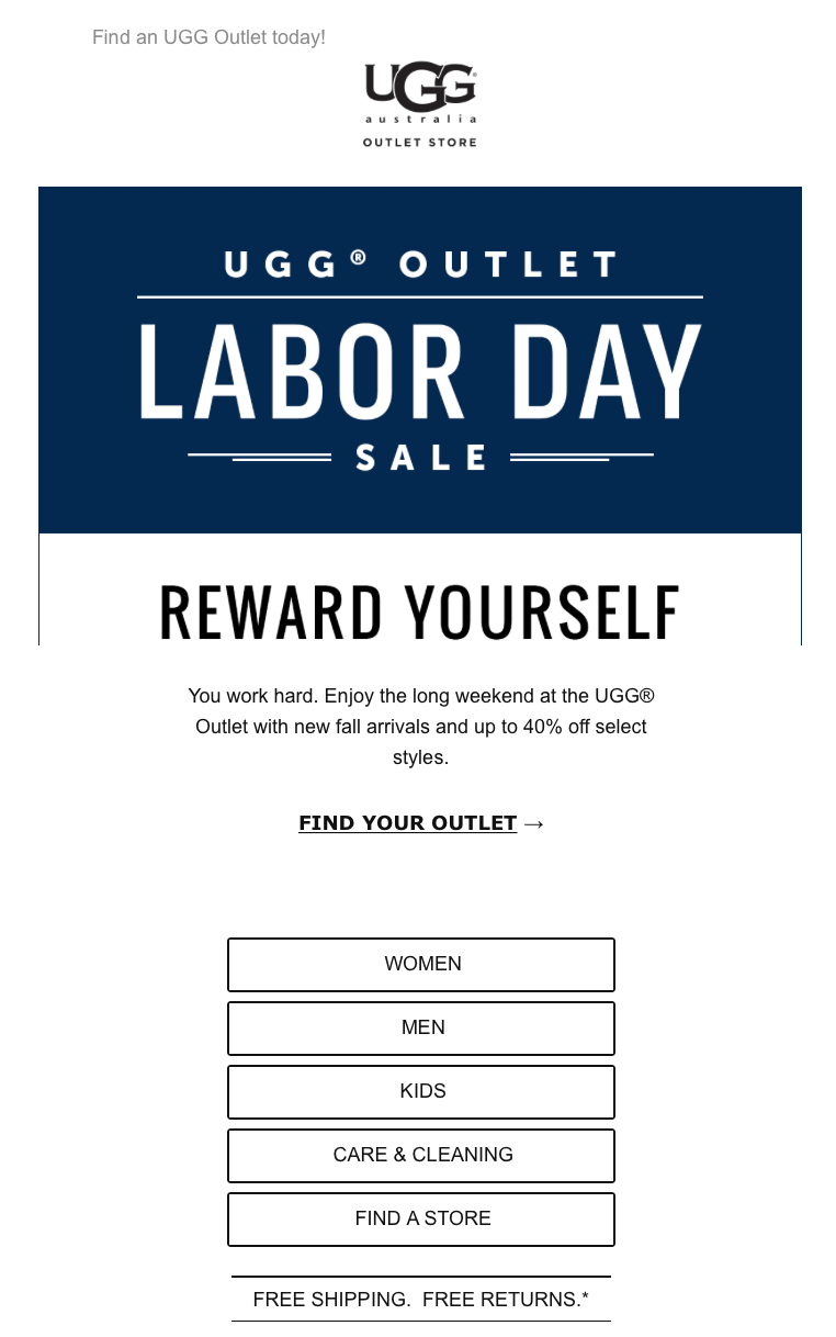 ugg outlet labor day sale
