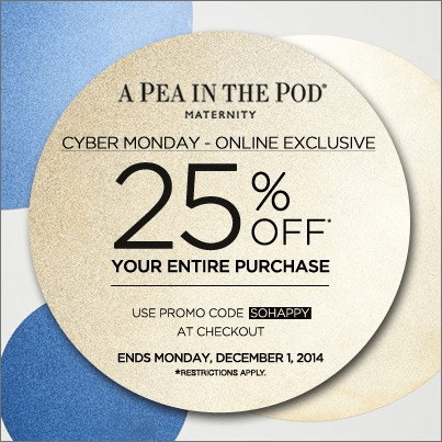 A Pea in the Pod Cyber Monday Ad - Page 1
