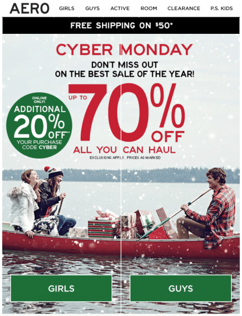 Aeropostale Cyber Monday 2015 Ad - Page 1
