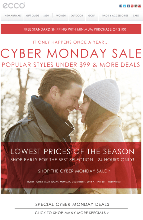 Ecco Cyber Monday Ad - Page 1