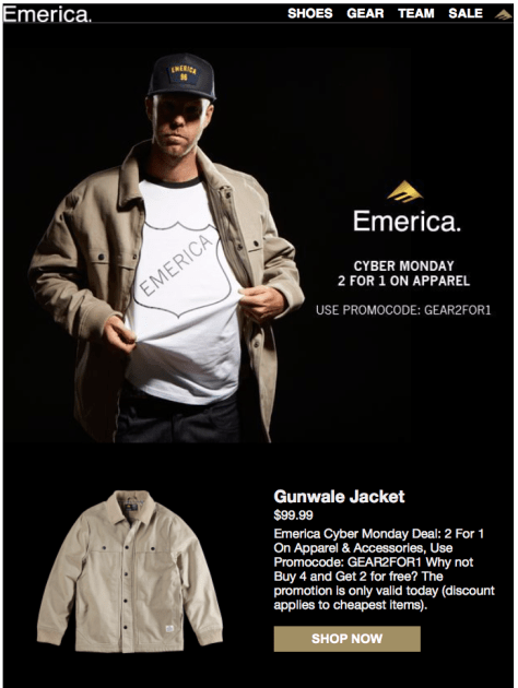 Emerica Cyber Monday Ad - Page 1