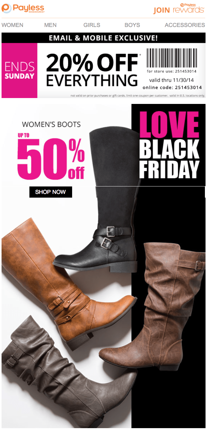payless shoes black friday 2018 sale bogo deals