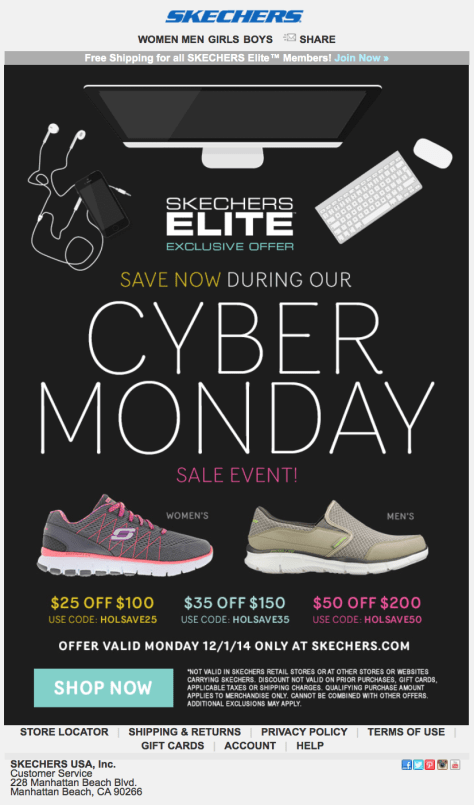 Skechers Cyber Monday Ad - Page 1