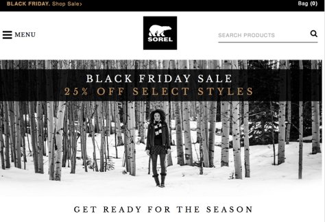 Sorel Black Friday 2015 Ad - Page 1