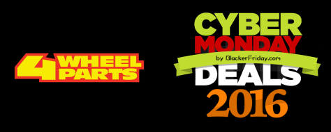 4 Wheel Parts Cyber Monday 2016