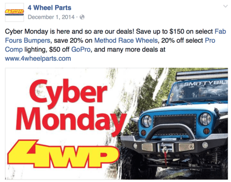 4 Wheel Parts Cyber Monday Ad - Page 1