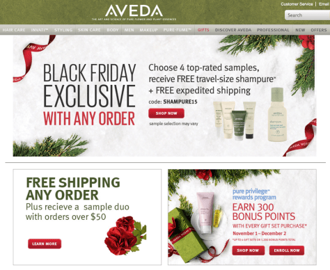 Aveda Black Friday 2015 Ad - Page 1