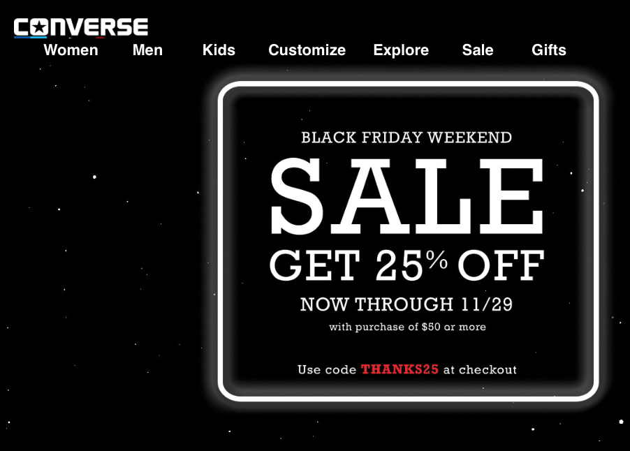converse on sale black friday