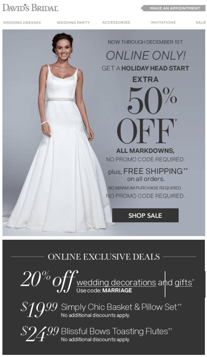 Davids bridal cyber monday 2017 deals wedding gown sale davids bridal cyber monday ad page 1 monicamarmolfo Gallery