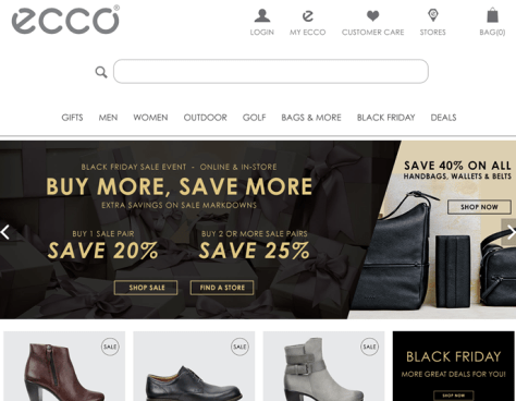 Ecco Black Friday 2015 Flyer - Page 1