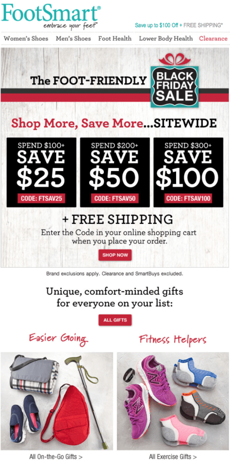 FootSmart Black Friday 2015 Flyer - Page 1