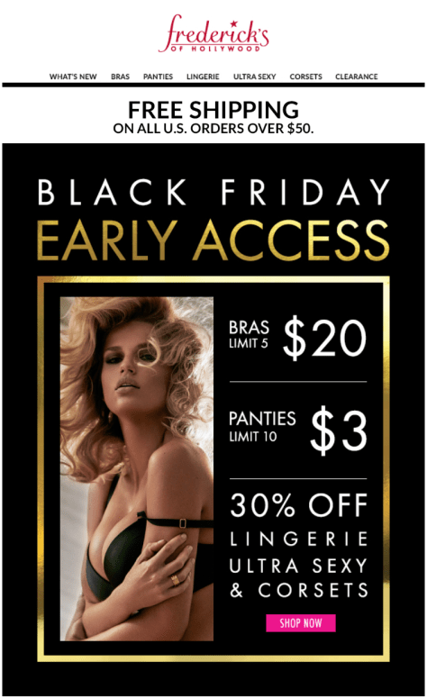 Fredericks Black Friday 2015 Flyer - Page 1