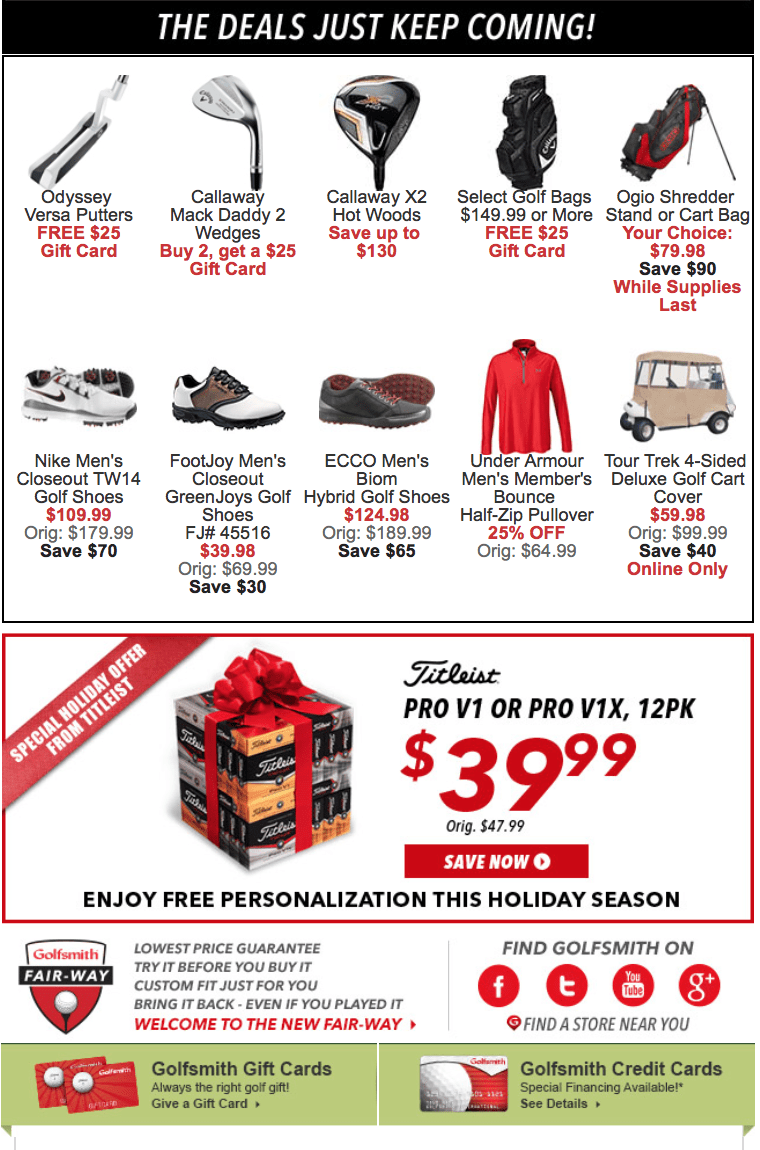 Golfsmith Black Friday 2017 Sale Deals Amp Store Hours