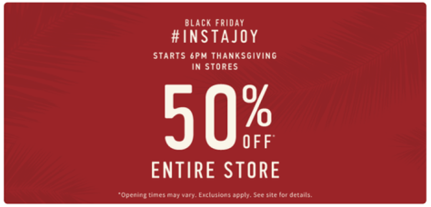 Hollister Black Friday 2015 Flyer - Page 1