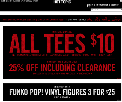 Hot Topic Black Friday 2015 Ad - Page 1