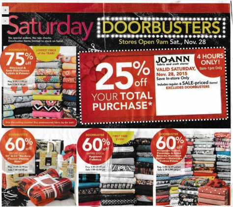 Jo Ann Fabrics Black Friday 2015 Ad - Page 7