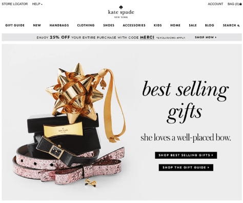 Kate Spade Black Friday 2015 Flyer - Page 1